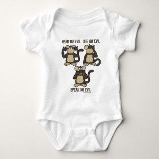 No oiga ningún mono del mal - nuevo mameluco de bebé