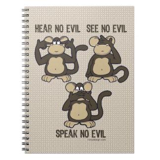 No oiga ningún mono del mal - nuevo note book