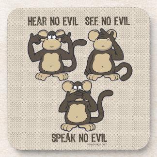 No oiga ningún mono del mal - nuevo posavasos de bebidas