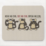 No oiga ningún mono del mal - nuevo tapetes de ratones