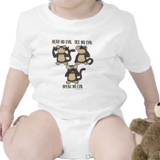 No oiga ningún mono del mal - nuevo trajes de bebé