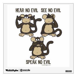 No oiga ningún mono del mal - nuevo vinilo decorativo