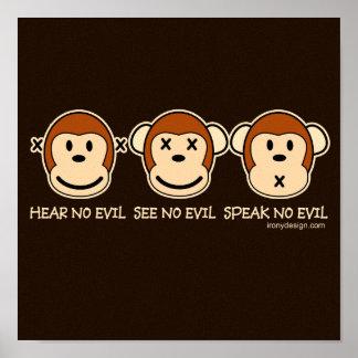 No oiga ningún mono del mal posters