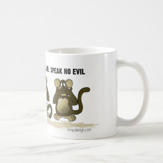 No oiga ningún mono del mal taza