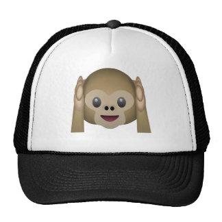 No oiga ningún mono malvado Emoji Gorras De Camionero