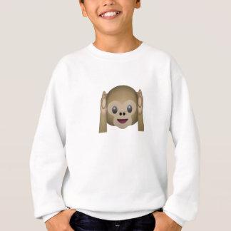 No oiga ningún mono malvado Emoji Polera