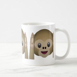 No oiga ningún mono malvado Emoji Taza De Café