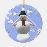 No oiga ninguna decoración malvada del árbol de ornamentos de navidad