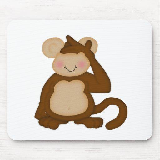 No oiga, vea, hable ningún Mousepads malvado Alfombrillas De Ratón