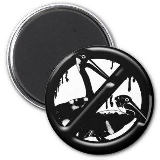 No Oil on Animals 2 Inch Round Magnet