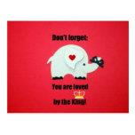 No olvide: ¡Al rey le ama! Tarjeta Postal