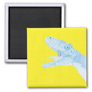 No olvide el dinosaurio imán para frigorífico