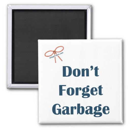 No olvide el imán del recordatorio de la basura