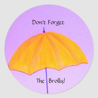 ¡No olvide el paraguas! Pegatina Redonda