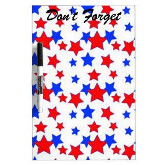 No olvide el tablero patriótico del borrador pizarras blancas