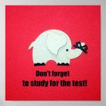 ¡No olvide estudiar para la prueba! Poster