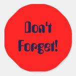 ¡No olvide! Etiqueta
