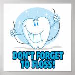no olvide floss el diente flossing del dibujo anim impresiones