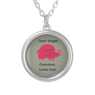 No olvide: ¡La abuela le ama! Nieta Colgante Redondo