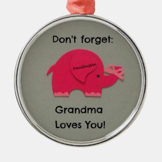 No olvide: ¡La abuela le ama! Nieta Ornamentos De Reyes Magos