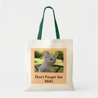 ¡No olvide la leche! Bolsas