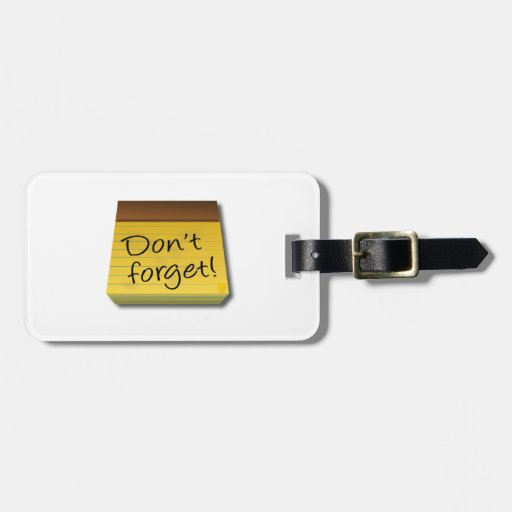 No olvide la libreta etiquetas para maletas