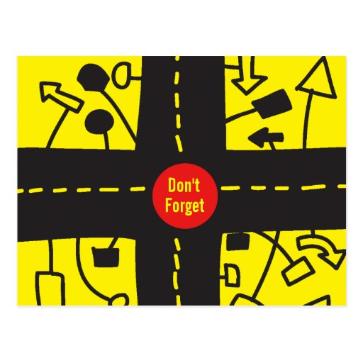 No olvide la postal amarilla del tráfico