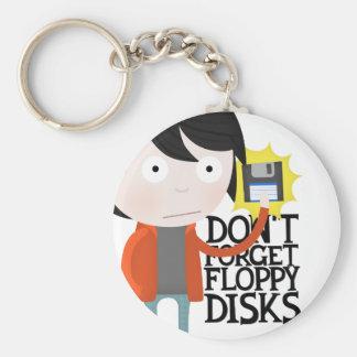 No olvide las diskettes llaveros