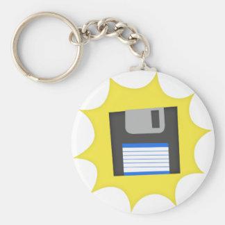 No olvide las diskettes llavero redondo tipo pin