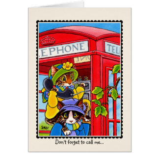 """""""No olvide llamarme"""" tarjeta de felicitaciones del"""