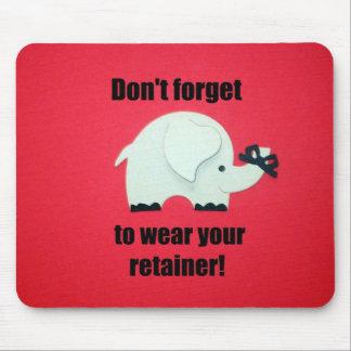 ¡No olvide llevar su criado! Mouse Pads