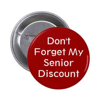 No olvide mi botón mayor del descuento