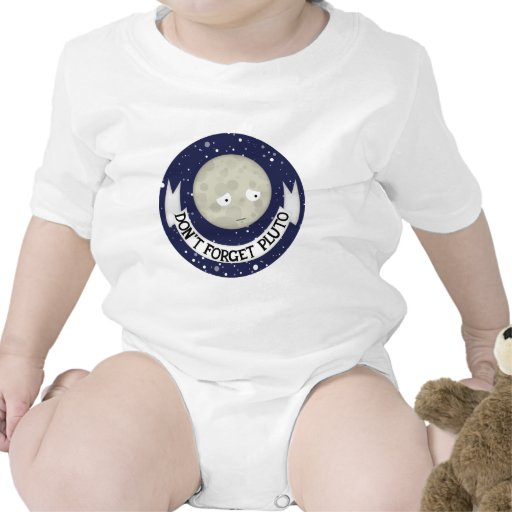 No olvide Plutón Camisetas