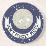 No olvide Plutón Posavasos Diseño