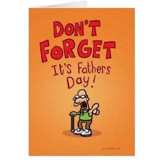 ¡No olvide que es día de padres! Tarjeta De Felicitación