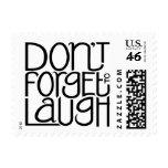 No olvide reír el sello negro
