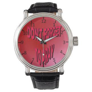 No olvide rogar relojes de pulsera