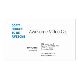 No olvide ser impresionante tarjetas de visita