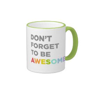No olvide ser impresionante taza a dos colores