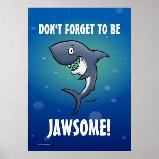 No olvide ser poster divertido del tiburón de Jaws
