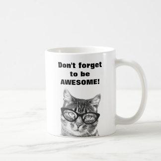 No olvide ser taza linda impresionante del gato
