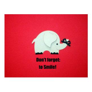 ¡No olvide sonreír Tarjetas Postales