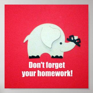 ¡No olvide su preparación! Posters