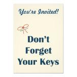 No olvide sus recordatorios de las llaves invitación 12,7 x 17,8 cm