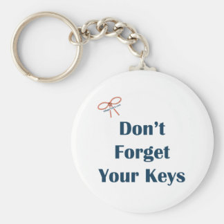 No olvide sus recordatorios de las llaves llavero redondo tipo pin