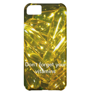 No olvide sus vitaminas funda para iPhone 5C