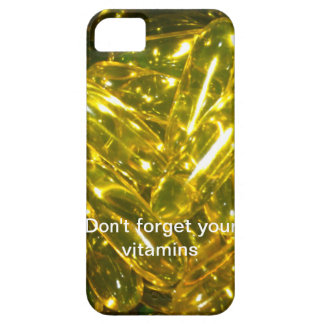 No olvide sus vitaminas iPhone 5 carcasa