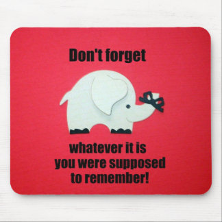 No olvide… tapete de ratones