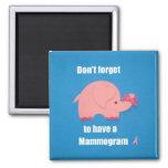 No olvide tener un mamograma iman para frigorífico