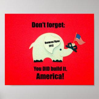 No olvide ¡Usted lo construyó América Impresiones